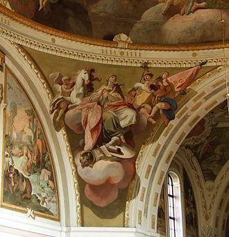 Pendentive - Image: Kostel Nejsvětější Trojice (Fulnek) – frs 002