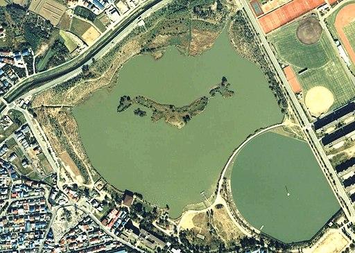 Koyaike pond Aerial photograph