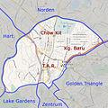 Kuala Lumpur - Location Map TAR, Chow Kit and Kg Baru - de.jpg