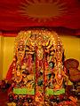 Kumarbhog Durga Puja 2014 - idol of Goddess Durga.jpg