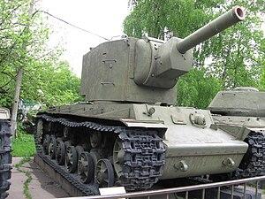 КВ-2 в Центральном музее Вооружённых Сил.