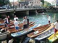L'Isle-sur-la-Sorgue Nego-chin boat race - discussing strategy.jpg