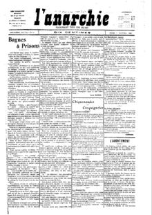 La Anarquía , 3 de enero de 1907 .