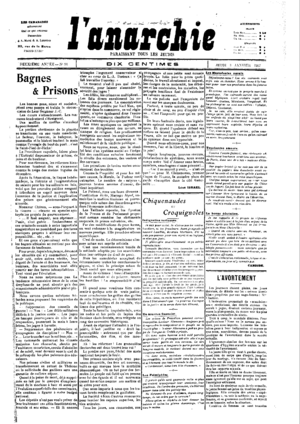 Illegalism - L'Anarchie, January 3, 1907