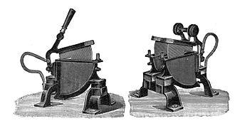 Liquid rheostat - Liquid rheostats used as motor start switches, circa 1900