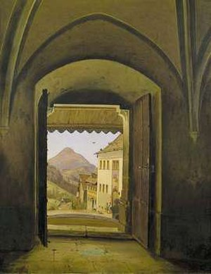 Ludwig Ferdinand Schnorr von Carolsfeld - View from the Church in Annaberg over the Ötscher, 1842, Von der Heydt Museum