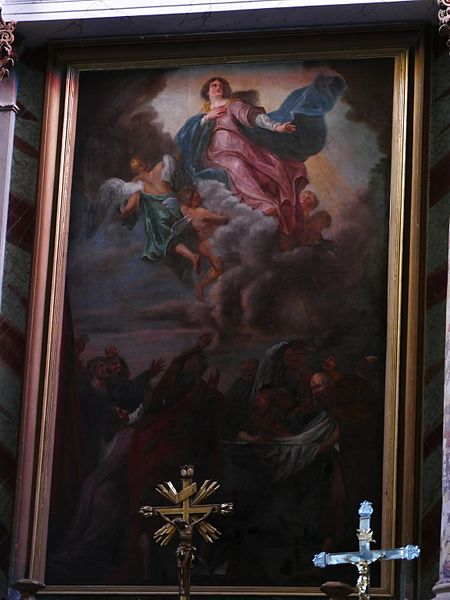 Our Lady of the Assumption's church in La Bastide-Clairence (Pyrénées-Atlantiques, Aquitaine, France).