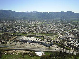 La Calera, Chile - Downtown La Calera from the hills