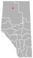 La Crête, Alberta Location.png
