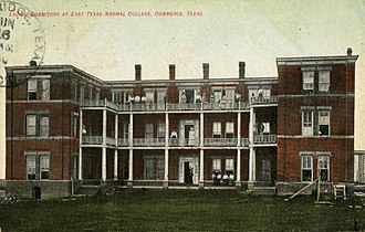 History of East Texas Normal College - ETNC's Ladies Dormitory in Commerce in 1910
