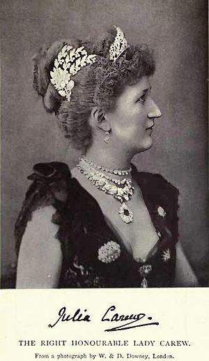 Robert Carew, 3rd Baron Carew - Lady Julia Carew by W. & D. Downey