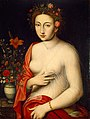 Lady with a Red Lily, School of Fontainebleau, oil on panel, 16th Century, High Museum of Art.jpg