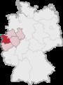 Lage des Regierungsbezirkes Düsseldorf in Deutschland.png