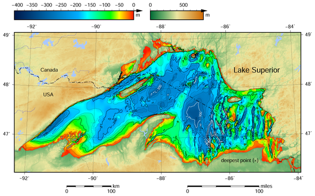 Lake bottom chart