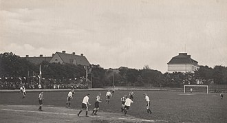 "Landskrona BoIS - ""Banan"" was initially intended for cycling, but football was eventually also played there."