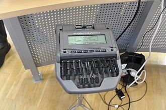 Stenotype - Stentura 8000LX steno writer