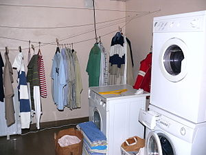 "A laundry room. (""Tvättstuga"" in swe..."