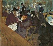 Toulouse-Lautrec, At the Moulin Rouge 1892