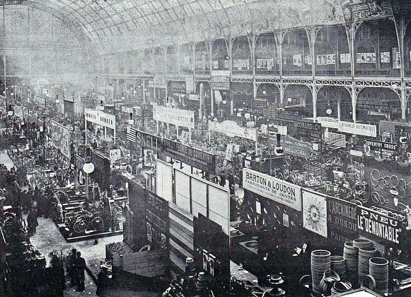 File le troisi me salon du cycle de paris en d cembre 1895 au palais de l 39 - Salon de l industrie paris ...