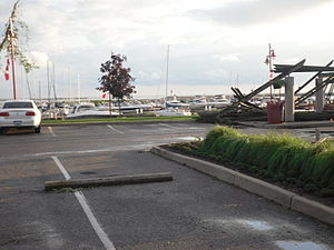 Leamington, Ontario - Leamington Marina damage after the tornado of June 6, 2010.