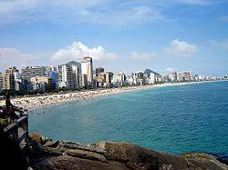 Vista das praias de Ipanema e Leblon
