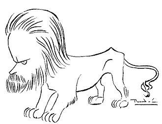 León de Greiff - Caricature of León de Greiff by fellow panida Ricardon Rendón.