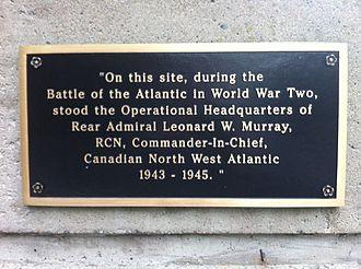 Leonard W. Murray - Leonard Murray Plaque Halifax, Nova Scotia – on the corner of South St. and Barrington St