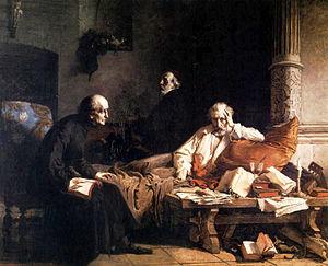 Sebastian Klonowic - Death of Acernus by Wilhelm Leopolski, 1867