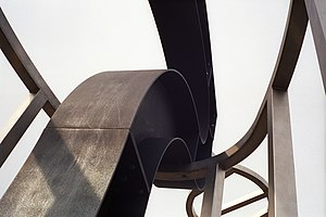 Richard Deacon (sculptor) - Richard Deacon. Lets Not Be Stupid (detail) at the University of Warwick
