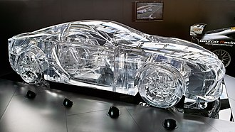 Poly(methyl methacrylate) - Lexus Perspex car sculpture.