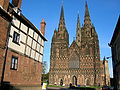 Lichfield cathedral, west front.JPG