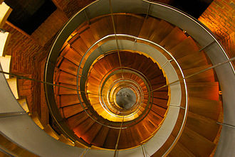 The Lighthouse, Glasgow - View of the helical staircase leading up to the viewing platform at the top of the Lighthouse