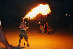 Fire breathers risk burns, both internal and external, as well as poisoning in the pursuit of their art.