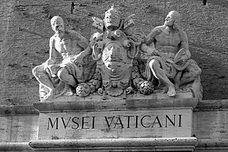 Vatican Museums - Sculptures above the exits of museums