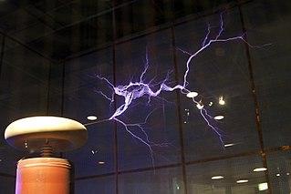 Tesla coil Electrical resonant transformer circuit invented by Nikola Tesla