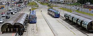 Rede Integrada de Transporte - Image: Linha Verde Curitiba BRT 02 2013 Est Marechal Floriano 5970