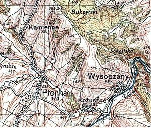 Płonna, Podkarpackie Voivodeship - Image: Linia Plonna Kozuszne 1930