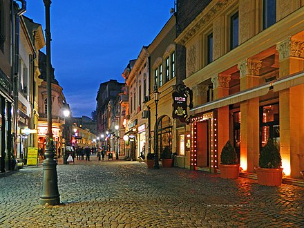 The Old Town is the heart of Bucharest nightlife. Liscani Street 3.jpg