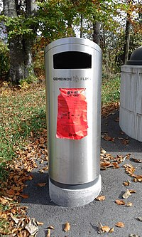Litter bin with integrated dog excrement bags dispenser.jpg