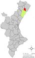 Localització de les Coves de Vinromà respecte del País Valencià.png