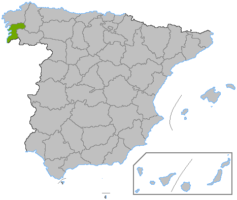蓬特韋德拉省 在西班牙的位置