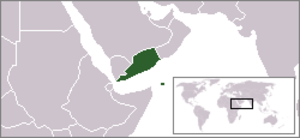 Aden Emergency - The location of the Aden Protectorate