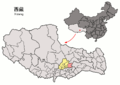 Location of Maizhokunggar within Xizang (China).png