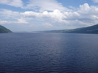 Loch Ness - Urquhart Bay and Loch Ness viewed from Grant's Tower at Urquhart Castle.