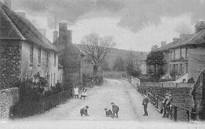 Keymer - Image: Lodge Lanes, Keymer c 1908