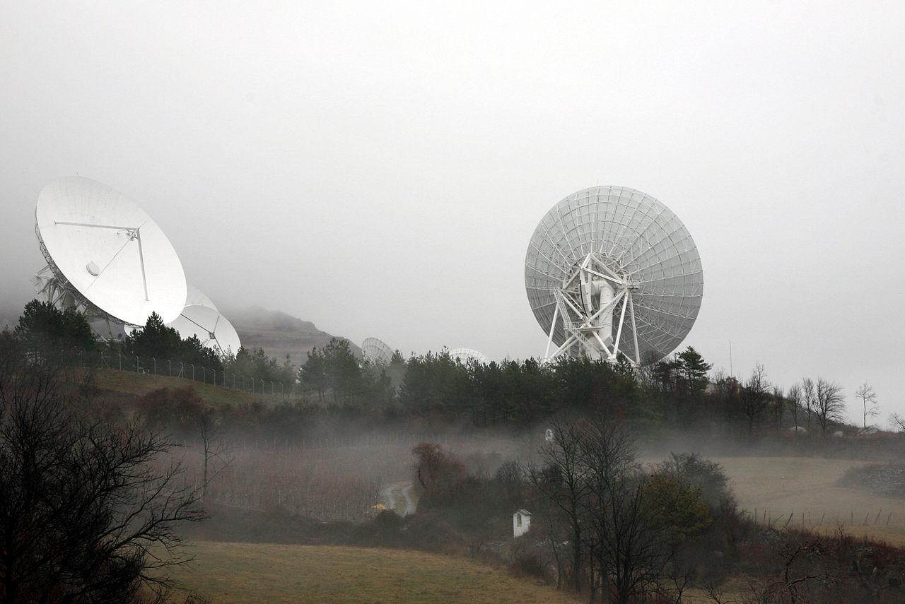 Antennas in Loèche, part of Switzerland's Onyx data gathering system