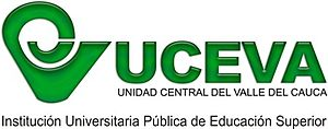 Central University of Valle del Cauca - Image: Logo UCEVA Horizontal último 1