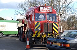London Transport towing vehicle 145xMR (Q888 FLE), Epping Ongar Railway, 26 February 2006.jpg