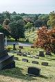 Looking down Sec 3 at Sec 2 - Lake View Cemetery (37145276022).jpg