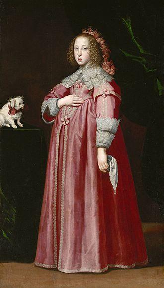 Maria Leopoldine of Austria - Portrait by Lorenzo Lippi, 1649
